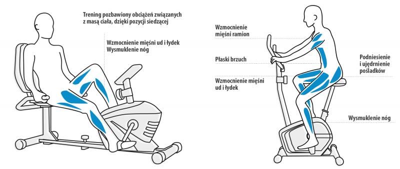 Porównanie rowerków pionowego i poziomego